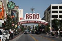 Reno-willkommenes Zeichen Stockfotografie