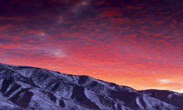 Reno Winter Sunrise Royalty Free Stock Photography