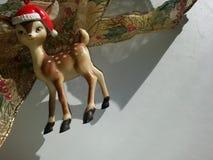 Reno y cinta de la Navidad Fotografía de archivo