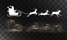 Reno y Papá Noel del vector Imagen de archivo libre de regalías