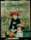 Renoir-pierre-auguste-the_two_sisters royalty-vrije stock foto's