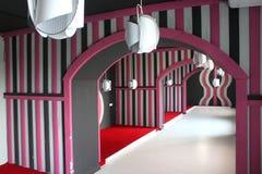 Renovação cor-de-rosa do salão de beleza Imagens de Stock Royalty Free