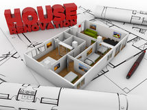 Renovação da casa ilustração royalty free