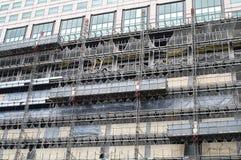 Renovação da fachada do edifício Fotos de Stock