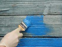 Renovação da pintura de casa fotografia de stock