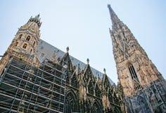 Renovação de St Stephen Cathedral em Stephansplatz em Viena Imagem de Stock
