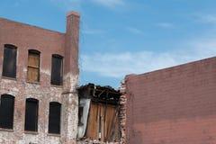 Renovação velha da construção de tijolo Imagem de Stock Royalty Free