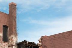 Renovação velha da construção de tijolo Fotografia de Stock Royalty Free