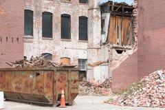 Renovação velha da construção de tijolo Fotografia de Stock