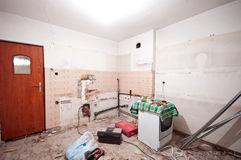 Renovación de la cocina foto de archivo libre de regalías