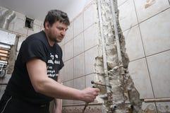 Renovación del cuarto de baño Foto de archivo