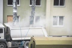 Renovación del edificio de apartamentos Foto de archivo libre de regalías