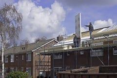 Renovación del tejado Imagenes de archivo