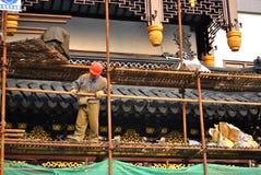 Renovación del templo Fotografía de archivo libre de regalías