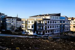 Renovación urbana en la región de Mármara de Turquía Fotos de archivo libres de regalías