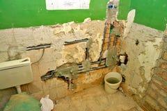 Renovación del cuarto de baño Fotografía de archivo