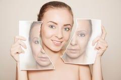 Renovando a pele foto de stock