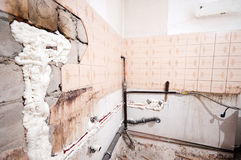 Renovando uma cozinha Foto de Stock
