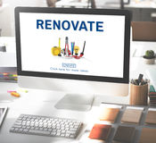 Renovate Renew Creativity Instrument Work Concept Royalty Free Stock Photos