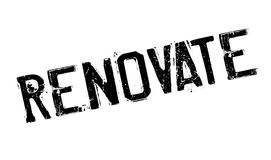 Renovate rubber stamp. Grunge design with dust scratches. Effects can be easily removed for a clean, crisp look. Color is easily changed Stock Images