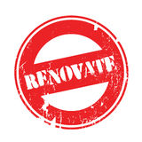 Renovate rubber stamp Stock Images