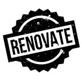 Renovate rubber stamp Stock Image