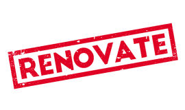 Renovate rubber stamp Stock Photo