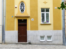 Renovated apartment building in calm district of Lviv, Ukraine Stock Photography