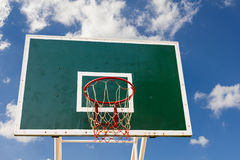 Basketball board in blue sky Royalty Free Stock Photos