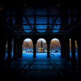 Renovated Bethesda Arcade and Fountain in Central Park, New York Stock Images