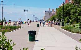 Renovated boardwalk east site coney island new york Stock Image