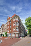 Renovated brick mansion, Amsterdam, netherlands Stock Photos