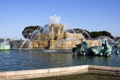Renovated Buckingham Fountain stock images