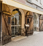 Renovated building in old city of Riga Stock Images