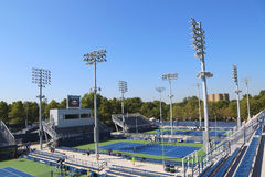 Renovated courts at the Billie Jean King National Tennis Center ready for US Open tournament Stock Images