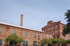 Free Renovated Downtown Durham Tobacco Warehouses Stock Photo - 130303150