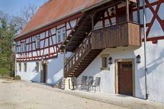 Renovated half-timbered historic house Royalty Free Stock Photo