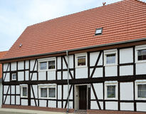 Renovated half-timbered house Stock Photo