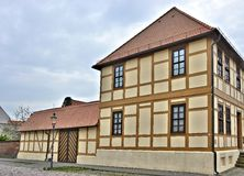 Renovated half-timbered house Royalty Free Stock Image