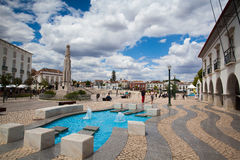 Renovated historic square in Tavira Stock Photos