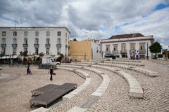 Renovated historic square in Tavira Stock Photos
