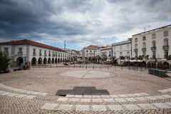 Renovated historic square in Tavira Stock Photography