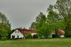 Renovated Historical Rural Building. In South Bohemia, Czech Republic (2013 Royalty Free Stock Images