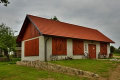 Renovated Historical Rural Building. In South Bohemia, Czech Republic (2013 Stock Image