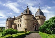 Renovated medieval castle Stock Photo