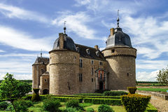 Renovated medieval castle Royalty Free Stock Photo