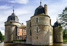 Renovated medieval castle Stock Image