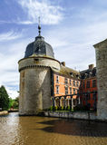 Renovated medieval castle Royalty Free Stock Images