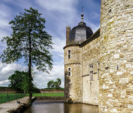 Renovated medieval castle Stock Photos