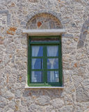 Renovated medieval house window Stock Images
